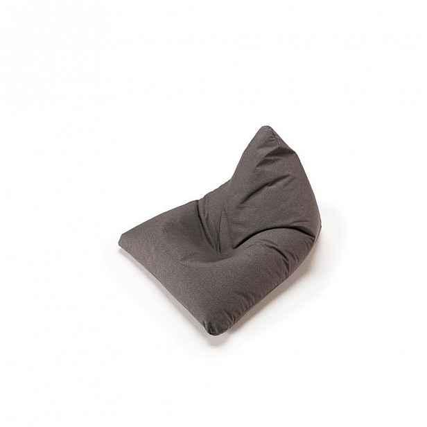 Tmavě šedý sedací vak Soft Peak Flashtex Dark Grey