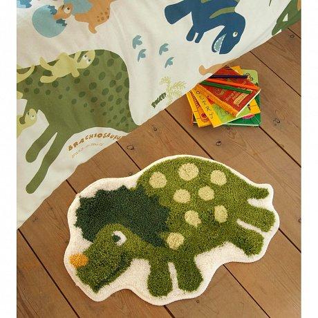 Zelený dětský koberec s motivem dinosaura Catherine Lansfield, 50x80cm