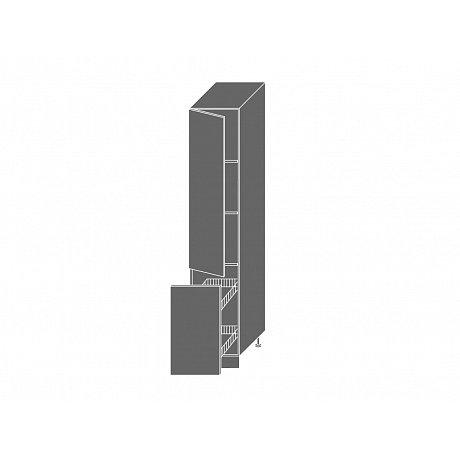 QUANTUM, skříňka potravinová 2D14k 40 + cargo, white mat/grey