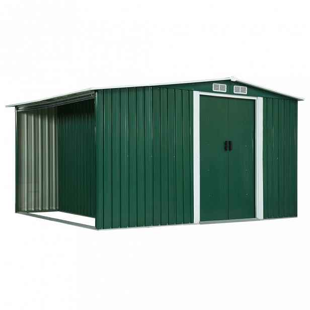 Zahradní domek 329,5x205x178 cm Zelená