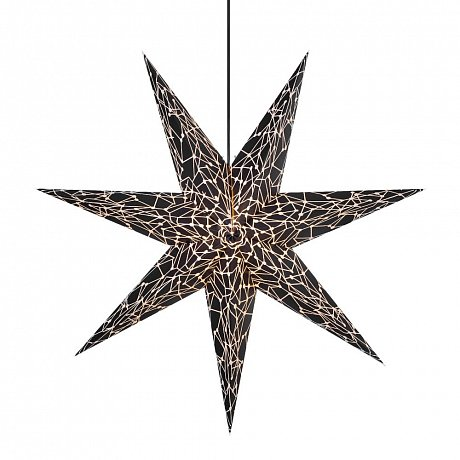 Černá světelná dekorace Markslöjd Karla, ø 75cm