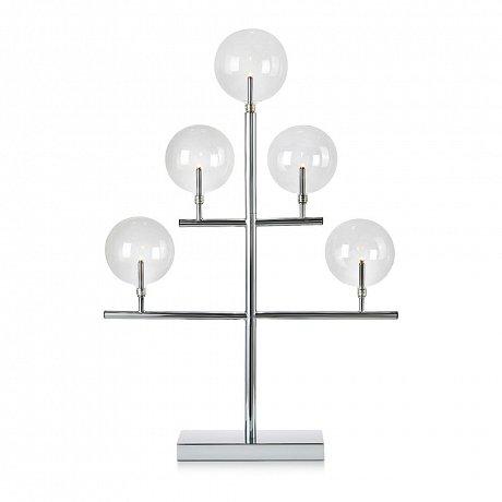 Svícen ve stříbrné barvě Markslöjd Maestro, výška 59 cm