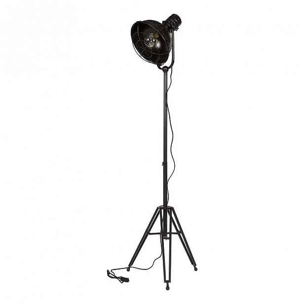 Černá stojací lampa BePureHome Spotlight