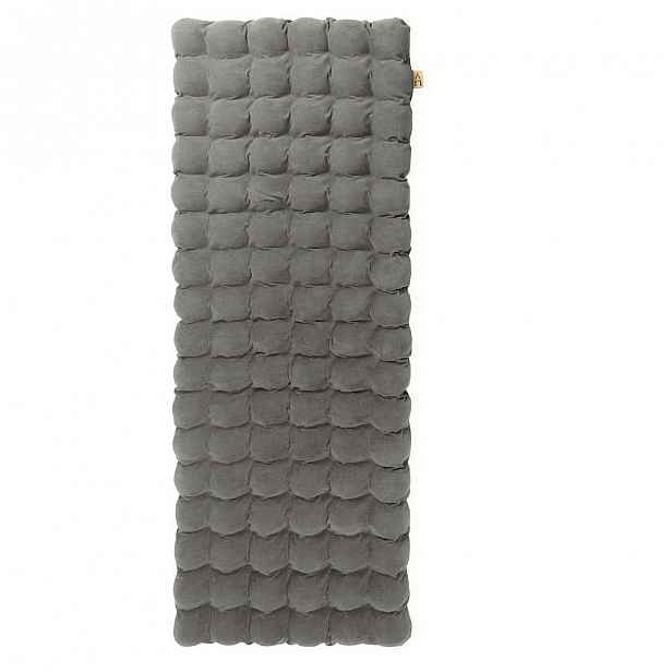 Šedomodrá relaxační masážní matrace Linda Vrňáková Bubbles, 65x200cm
