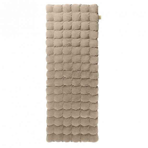 Béžová relaxační masážní matrace Linda Vrňáková Bubbles 65x200cm