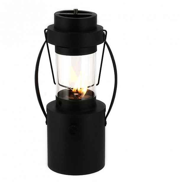 Černá plynová lampa Cosi Rider, výška 44 cm