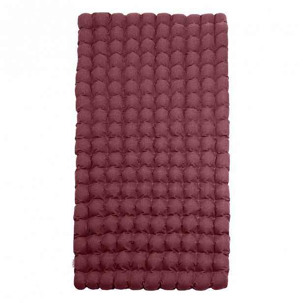 Fialová relaxační masážní matrace Linda Vrňáková Bubbles 110x200cm