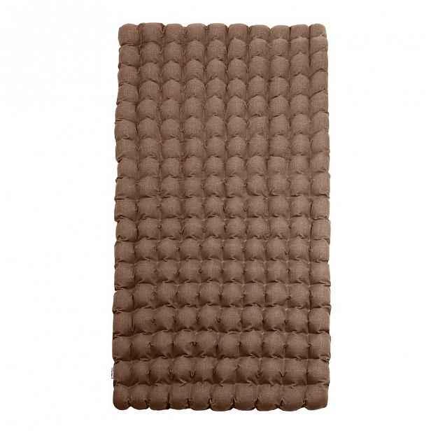 Hnědá relaxační masážní matrace Linda Vrňáková Bubbles 110x200cm