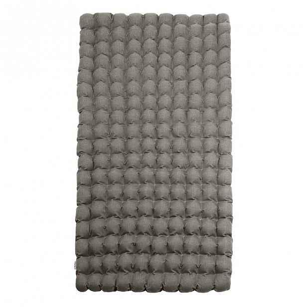 Šedomodrá relaxační masážní matrace Linda Vrňáková Bubbles 110x200cm