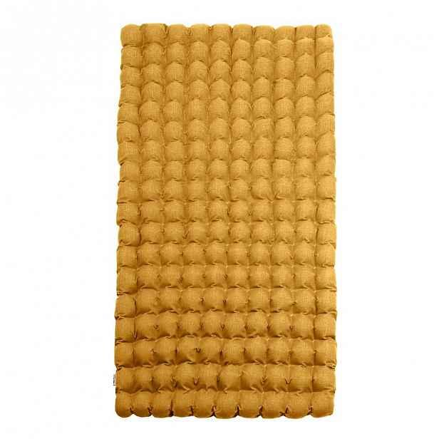 Tmavě žlutá relaxační masážní matrace Linda Vrňáková Bubbles 110x200cm