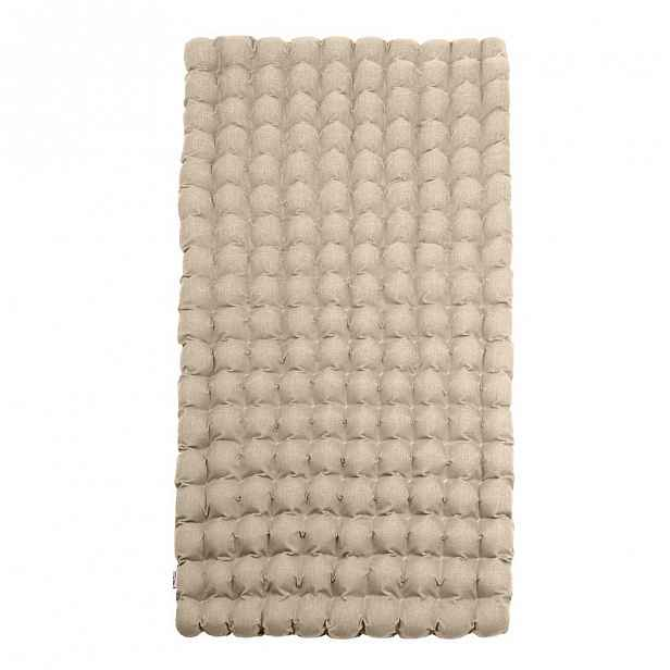 Béžová relaxační masážní matrace Linda Vrňáková Bubbles 110x200cm