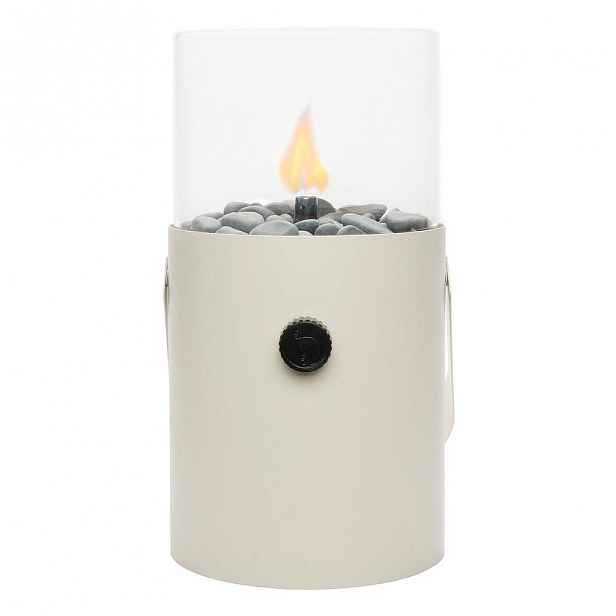 Bílá plynová lampa Cosi Original, výška 30 cm