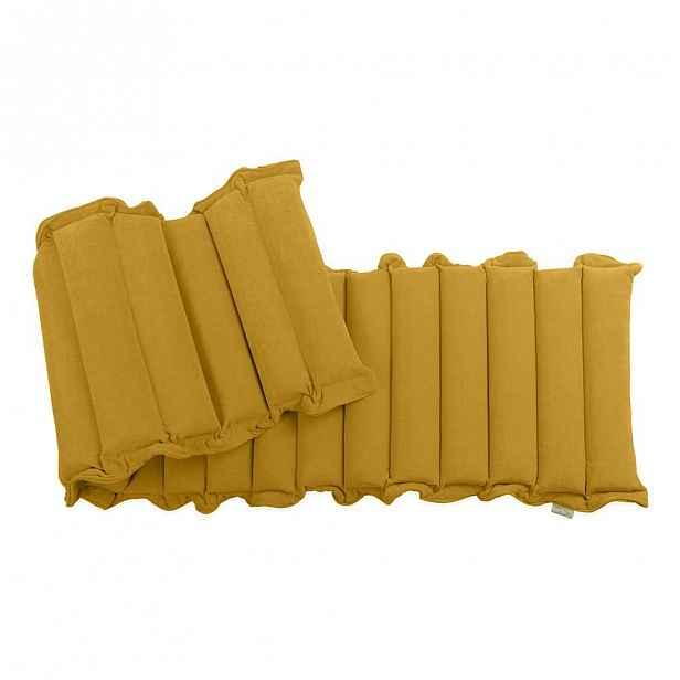 Tmavě žlutá relaxační masážní matrace, 60x200cm