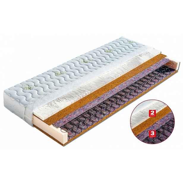Pružinová matrace SALMA Dřevočal 180 x 200 cm Aloe Vera