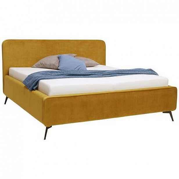 Moderano Čalouněná Postel, 180/200 Cm, Textil, Kompozitní Dřevo, Curry Žlutá - Čalouněné postele - 000504000101