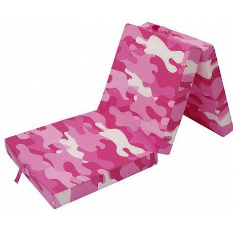 Skládací matrace Samba, růžový vzor