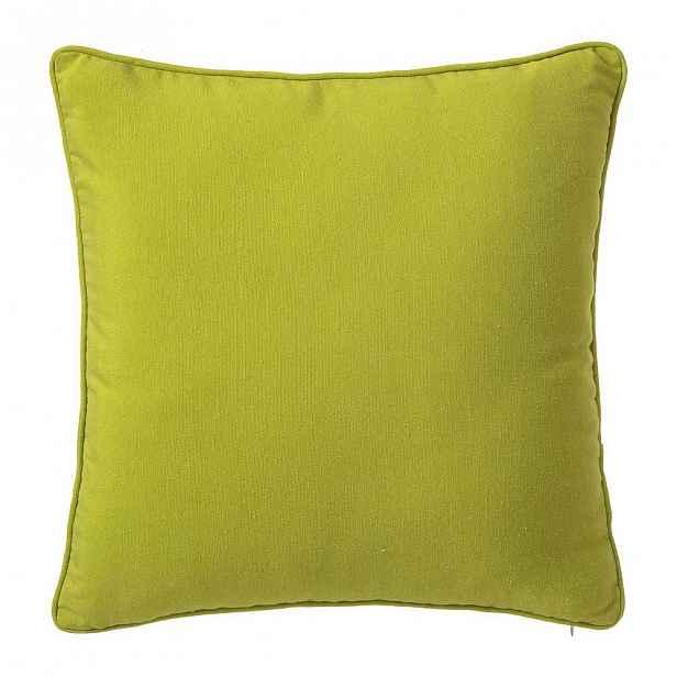 Limetkově zelený polštář Unimasa Loving, 45 x 45 cm