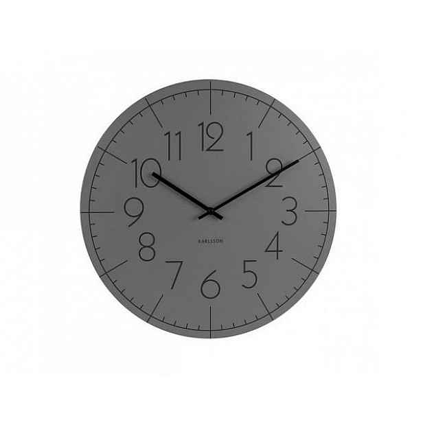 Designové nástěnné hodiny KA5592GY Karlsson 40cm