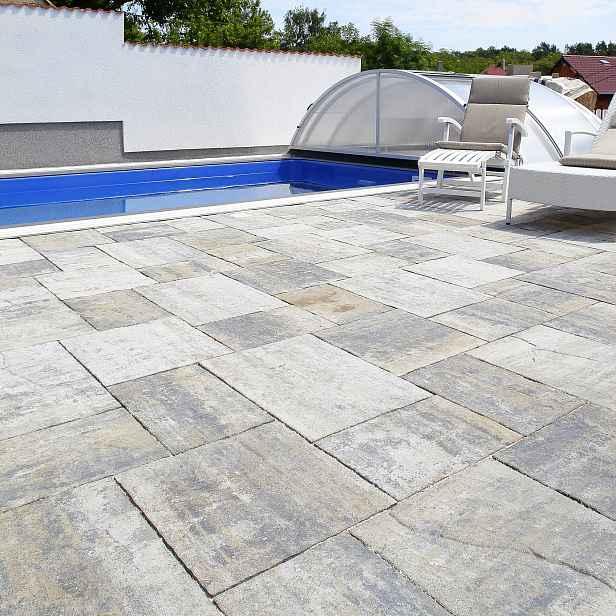 Betonová dlažba BEST ALTEA, povrch standard, barva colormix arabica, výška 60 mm