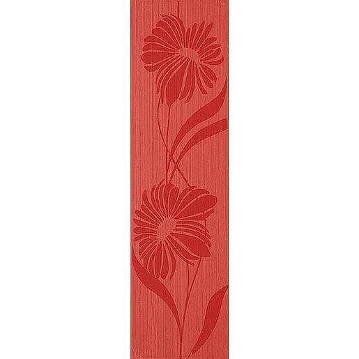 Listela Fineza Via veneto rosso 13x45 cm mat WLAP9004.1