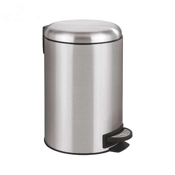 Pedálový odpadkový koš ve stříbrné barvě Wenko Leman, 12 l