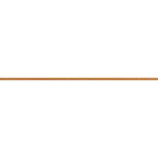 Listela Rako Charme oranžová 2x60 cm mat WLASW001.1