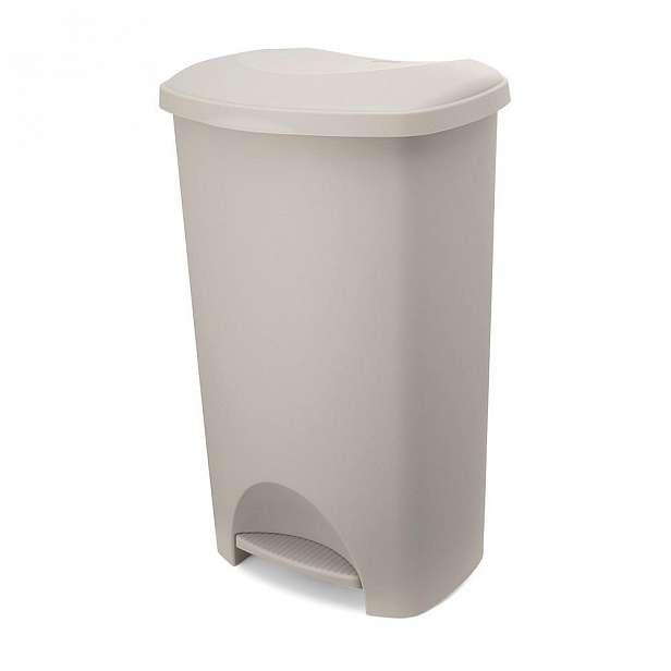 Béžový pedálový odpadkový koš s víkem Addis, 41 x 33 x 62,5 cm