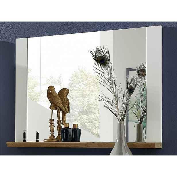 Nástěnné zrcadlo s poličkou Materio