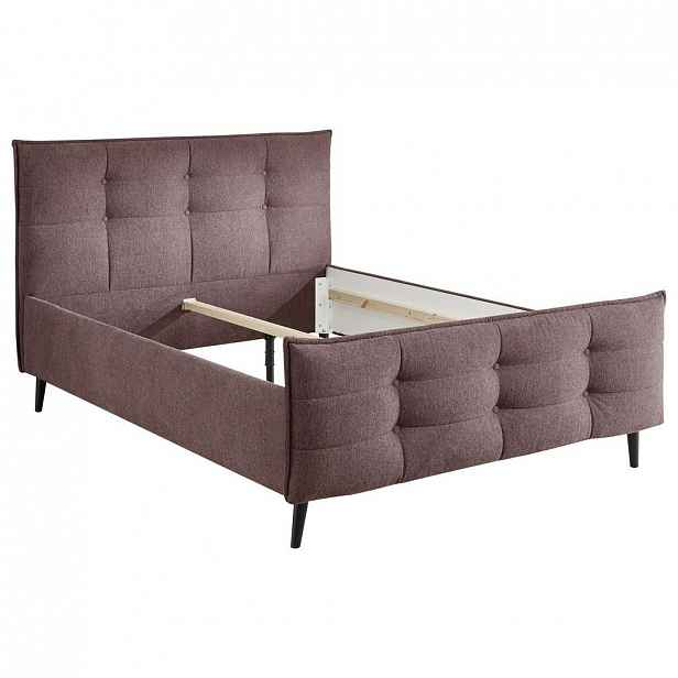 Čalouněná postel Mario B 140x200 Cm Fialová