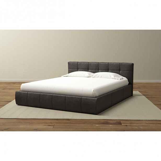 Čalouněná postel Tampa kombinující nadčasový design a praktičnost v barvě Savana Grey 160x200 cm