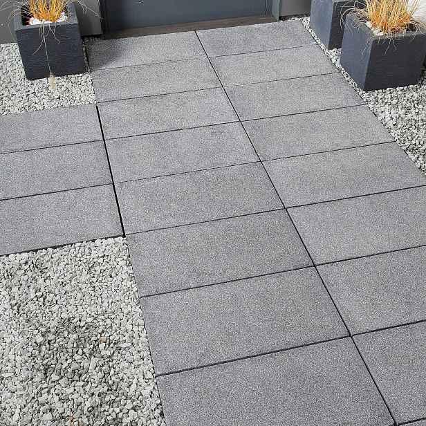 Betonová terasová dlažba BEST, povrch tryskaný, barva tamoro, 40×400×400 mm