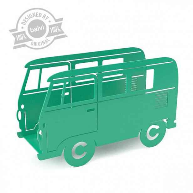 BALVI Van stojan na noviny, zelený HELCEL