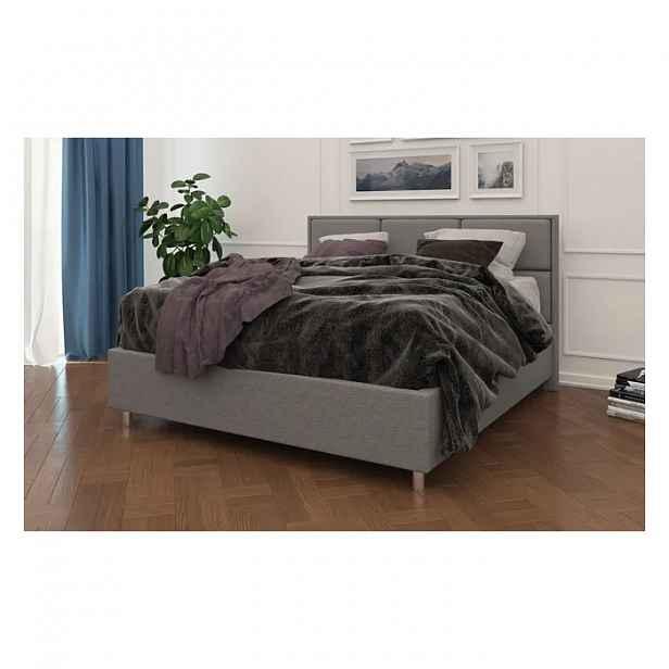Čalouněná postel Aurora Frame Lift 180x200 cm v barvě Tetra Graphite