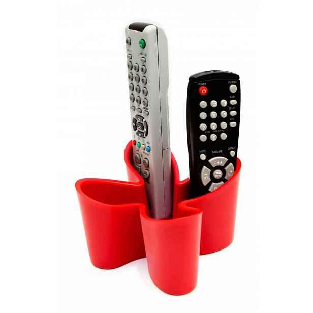 Stojánek na dálkové ovladače J-ME Cozy Remote Tidy, červený HELCEL