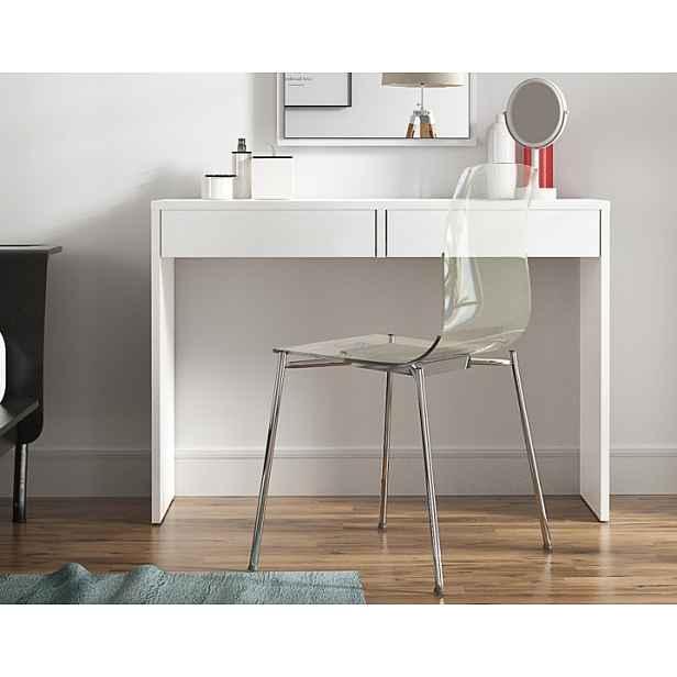 Toaletní stolek / psací stůl VIOLET Tempo Kondela Bílá