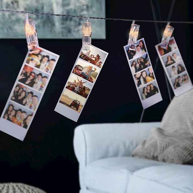 Sada dekorativních LED spon na fotografie DecoKing, 40 ks