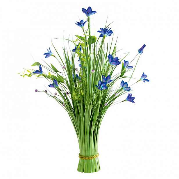 Okrasná tráva svazek modré květy