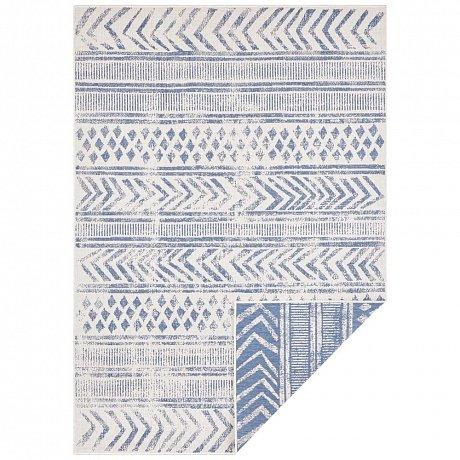 Modro-krémový venkovní koberec Bougari Biri, 200 x 290 cm