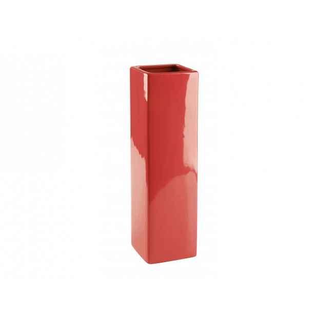 Váza QUADRO, červená