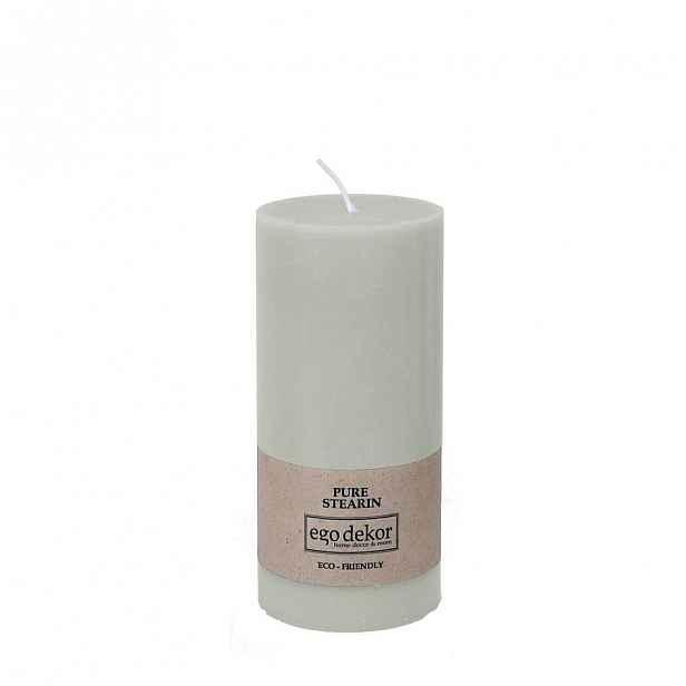 Tyrkysově modrá svíčka Baltic Candles Eco, výška 15cm