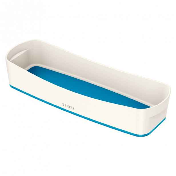Bílo-modrý stolní organizér Leitz MyBox, délka 31 cm