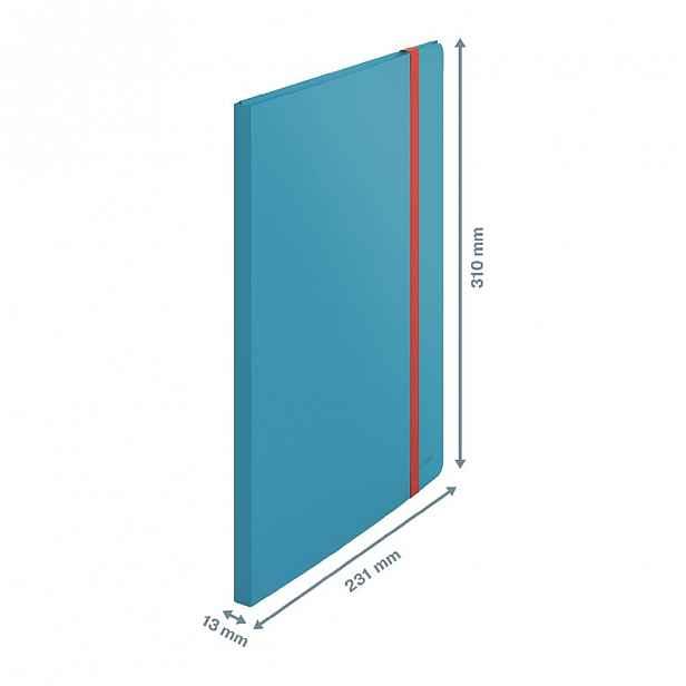 Modrá katalogová kniha Leitz Cosy, A4