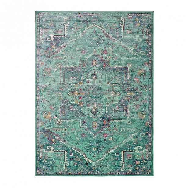 Zelený koberec z viskózy Universal Lara, 120x170cm