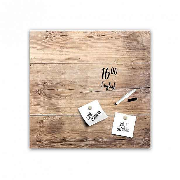 Magnetická tabule Styler Wood, 30 x 30 cm