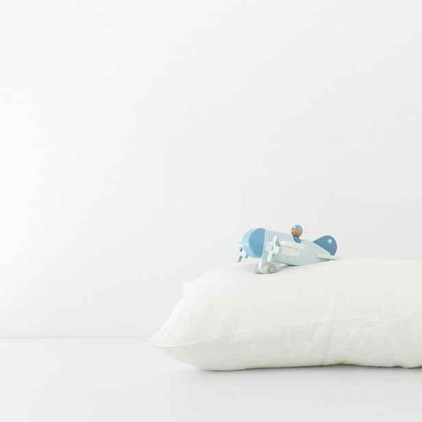 Dětský bílý lněný povlak na polštář Linen Tales Nature,40x45cm