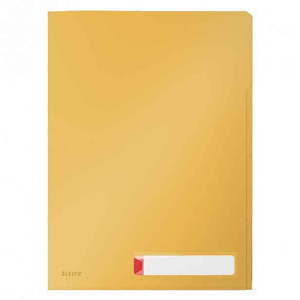 Žluté třídící kancelářské desky Leitz Cosy, A4