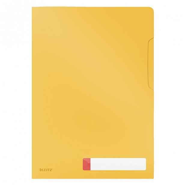 Žluté neprůhledné kancelářské desky Leitz Cosy, A4