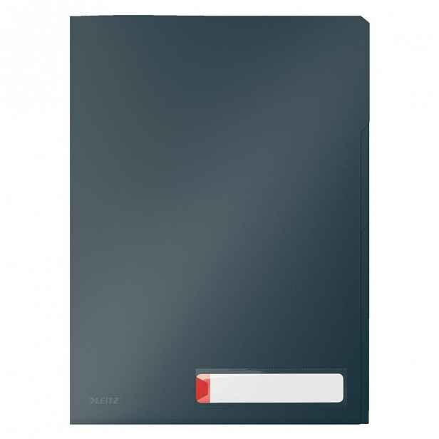 Šedé třídící kancelářské desky Leitz Cosy, A4