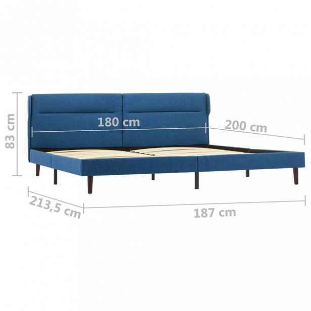 Postel modrá látka Dekorhome 180 x 200 cm