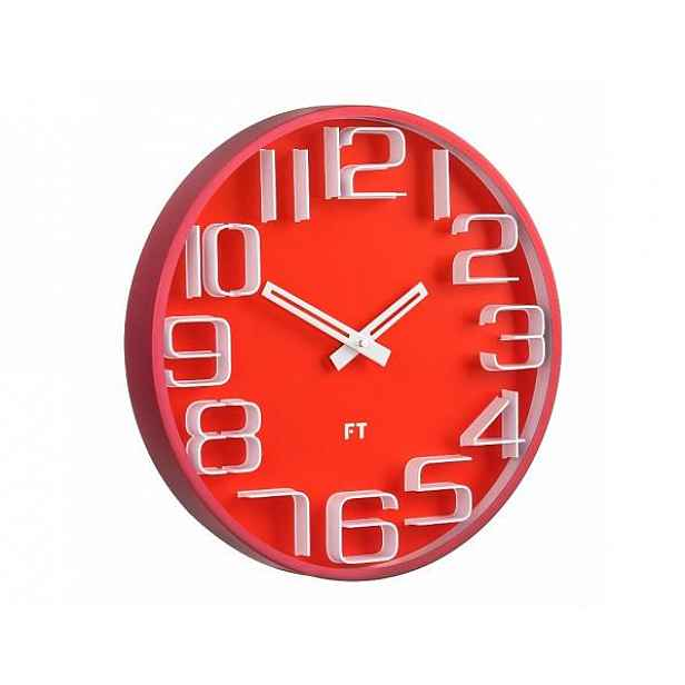 Designové nástěnné hodiny Future Time FT8010RD Numbers 30cm